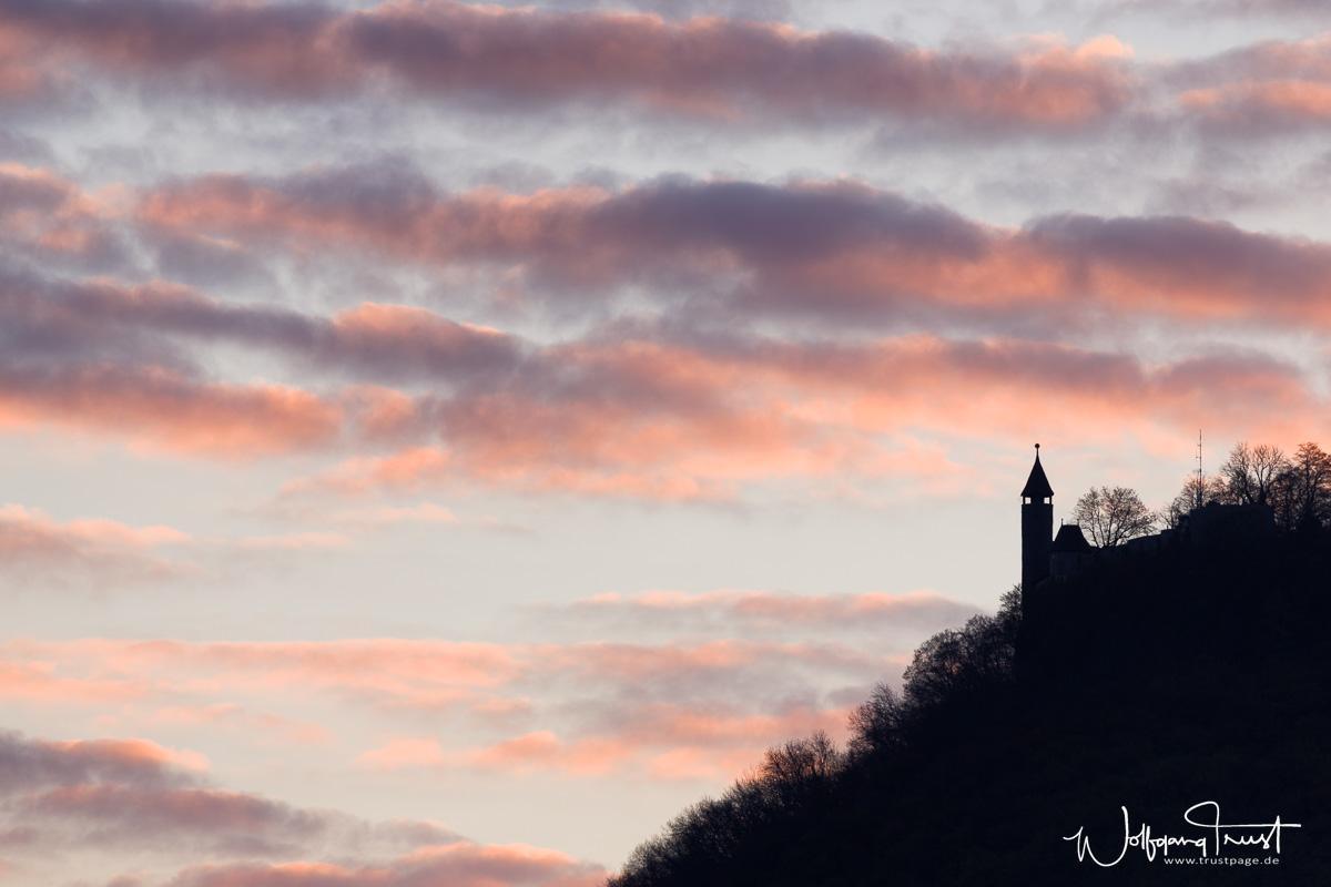 Burg Teck bei Tagesanbruch