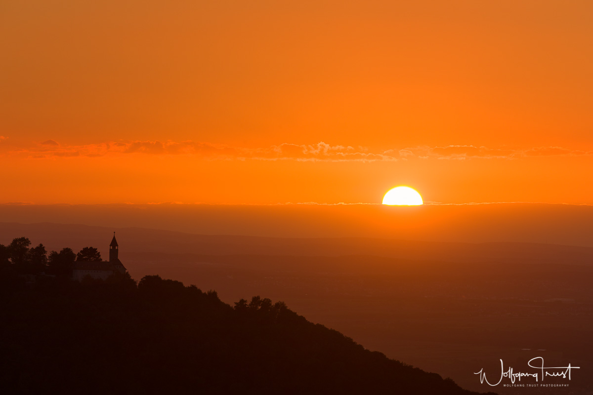 Nach Sonnenuntergang - Blick Richtung Teck