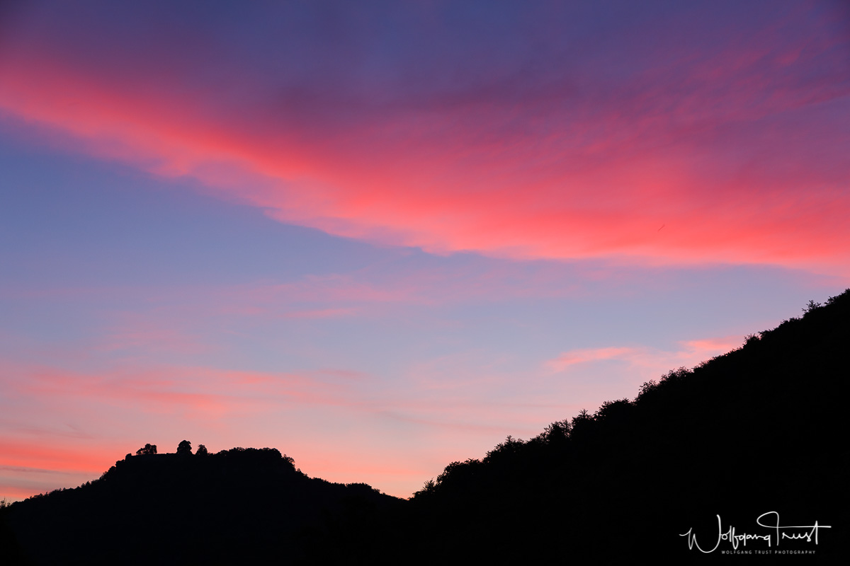 Hohenurach im Morgenrot